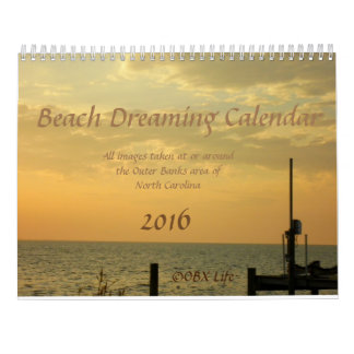 Beach Dreaming Calendar 2016