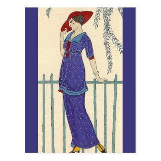 Beach Dress by George Barbier Postcard