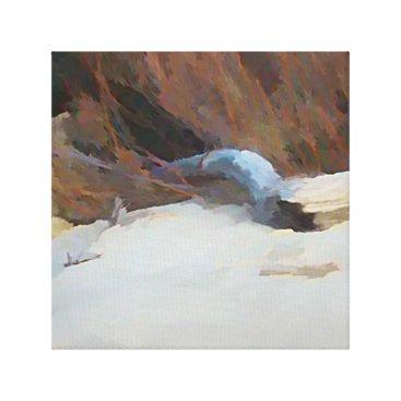 Dales_Art_Gallery Beach Drift Wood Canvas Print