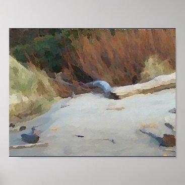 Dales_Art_Gallery Beach Drift Wood Poster