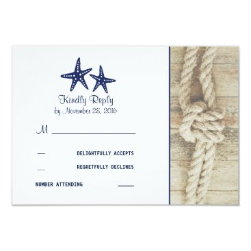 jinaiji Beach Driftwood Rustic Nautical Wedding RSVP Cards