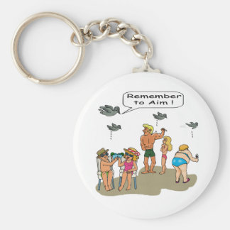 """Beach Droppings"" Keychain"