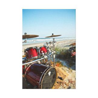 Beach Drummer Canvas Print
