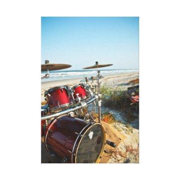 Beach Themed Beach Drummer Canvas Print