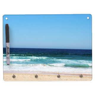 Beach Dry Erase Board + Key hooks