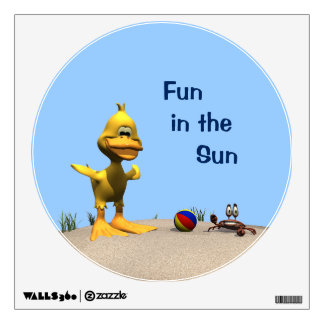 Beach Duck Wall Decal