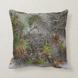 beach dune plants sand in Florida Throw Pillow