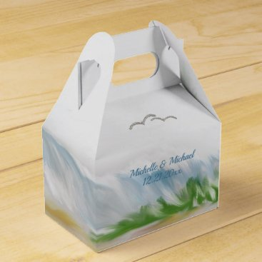 Beach Dune Romance Wedding Favor Box