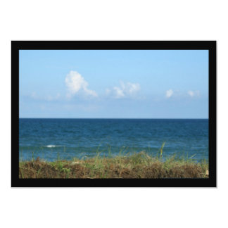 Beach dune with blue water and sky, Florida Personalized Invite
