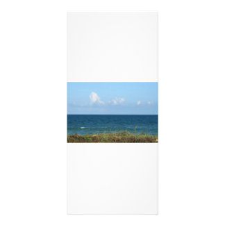 Beach dune with blue water and sky, Florida Customized Rack Card