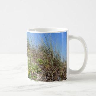 Beach Dune with Yellow Flowers Classic White Coffee Mug