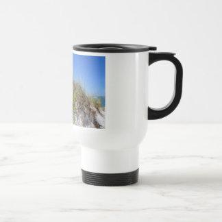 Beach Dune with Yellow Flowers 15 Oz Stainless Steel Travel Mug