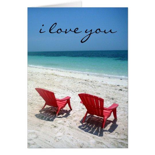 beach duo love card