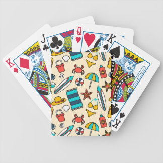 Beach Elements Pattern Bicycle Playing Cards