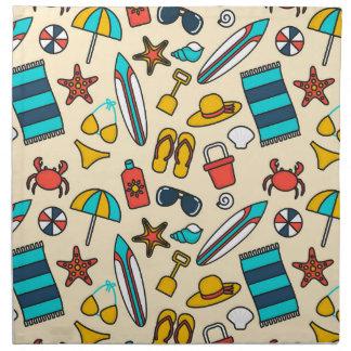 Beach Elements Pattern Cloth Napkin