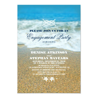 Beach Engagement Party Rope Knot Invitations