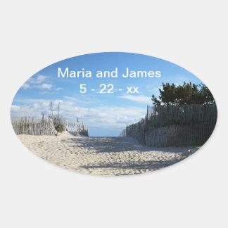 Beach Entrance Wedding Stickers