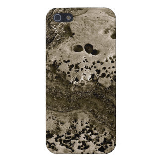 BEACH EROSION DETAIL IN BLACK AND WHITE iPhone SE/5/5s COVER