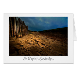Beach Exit at Sundown - Deepest Sympathy Greeting Cards