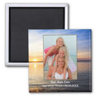 Beach Family Best Mom Photo Magnet