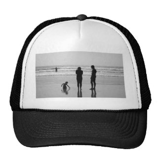 Beach family bw trucker hat