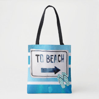 Beach Family Reunion watercolor surfboard Tote Bag
