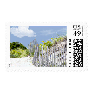 Beach Fence and Dune Invite 2 Postage