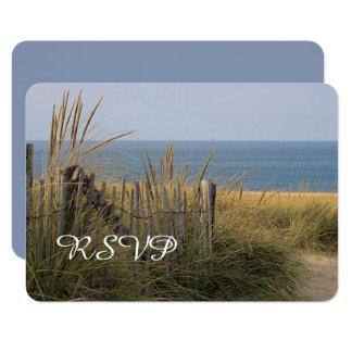 Beach fence and sand dune RSVP Card