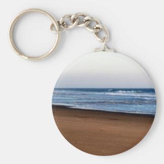 Beach Fence Basic Round Button Keychain