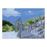 Beach Fence & Dunes Christmas Greetings 5x7 Paper Invitation Card