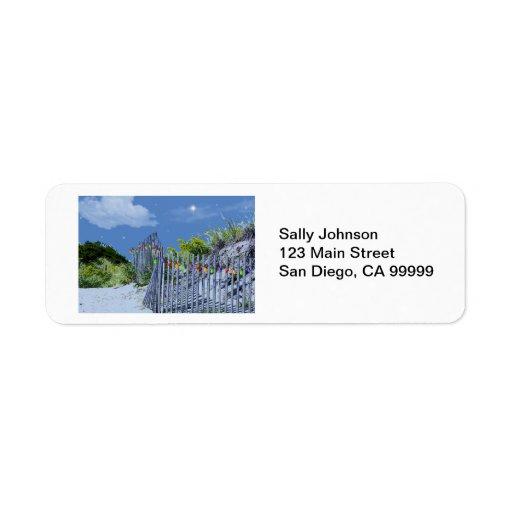 Beach Fence & Dunes Return Address Label
