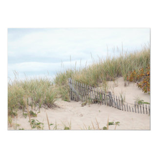 Beach fence in the sand dune card
