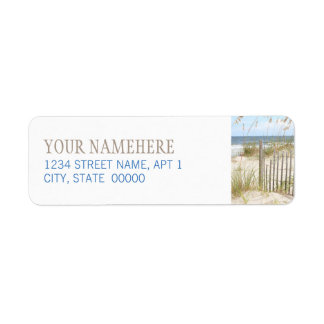 Beach Fence Label