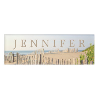 Beach Fence Magnetic Name Tag