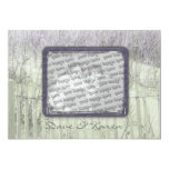 Beach Fence Save the Date Card Invite