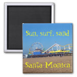 Beach Ferris Wheel Santa Monica, California Pier Refrigerator Magnets