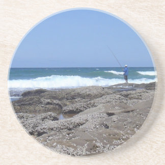 Beach Fisherman Coaster