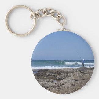 Beach Fisherman Keychain