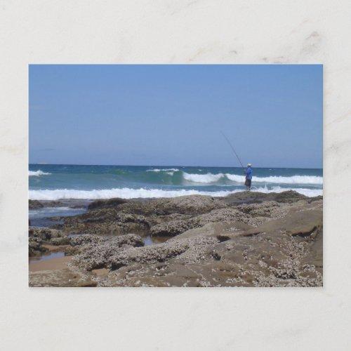 Beach Fisherman postcard