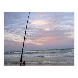 Beach Fishing at Sunset Postcards