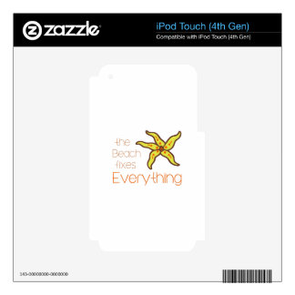 BEACH FIXES EVERYTHING iPod TOUCH 4G SKINS