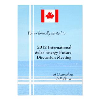 Beach flag or logo international business invitation