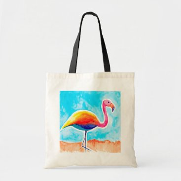 Beach Themed Beach Flamingo Budget Tote Bag
