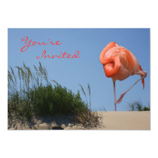 Beach Flamingo Invitation