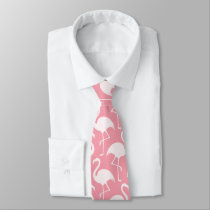 Beach Flamingo pattern fun tie