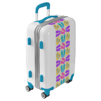 Beach flip flop pattern Ugo luggage suitcase