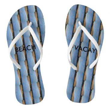 Beach Themed Beach Flip Flops