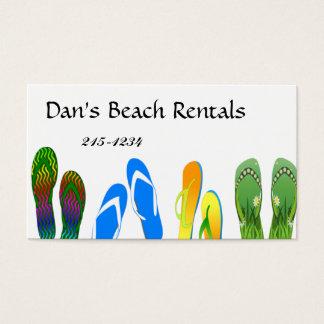Beach Flip Flops Business Card
