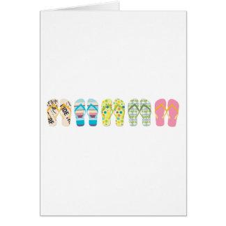 Beach Flip Flops Card