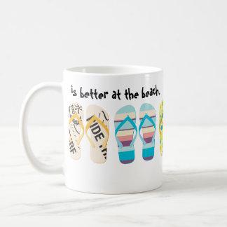Beach Flip Flops Classic White Coffee Mug